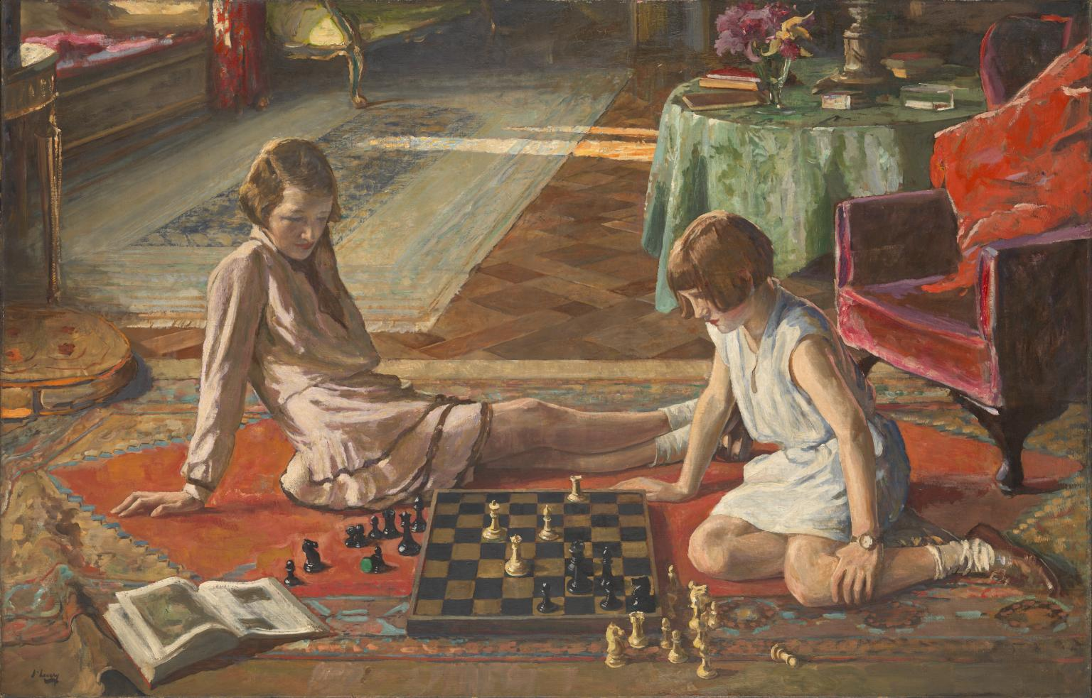 The Chess Players 1929 by Sir John Lavery 1856-1941